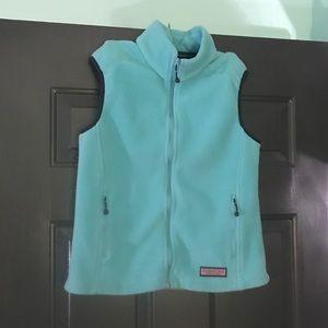 Vineyard Vines Aqua Fleece Vest Size Medium